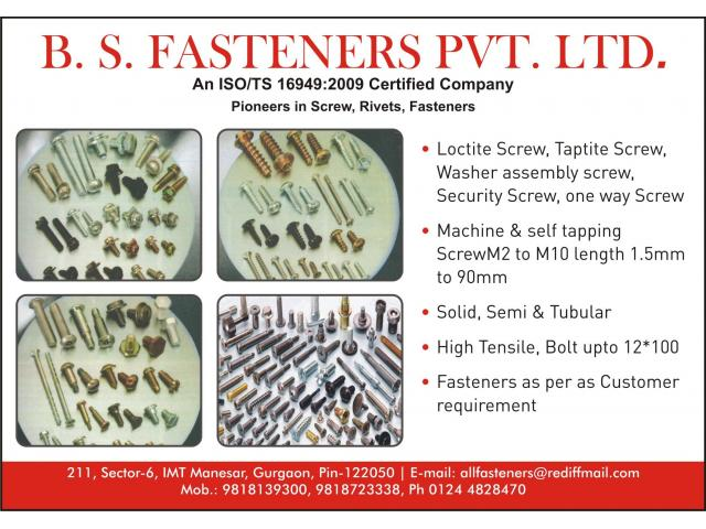 B S  Fastners Manesar - IMT Manesar | Unique Publication | Business